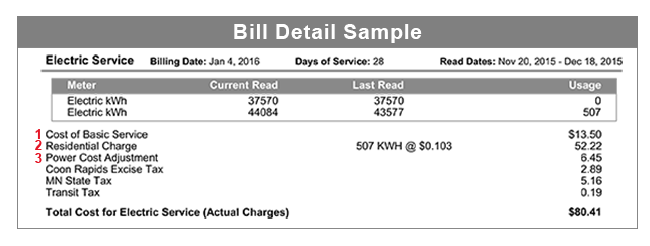 Residential Bill Sample