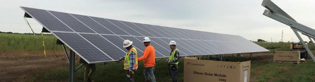 Connexus Energy's innovative solar-plus-storage project under construction