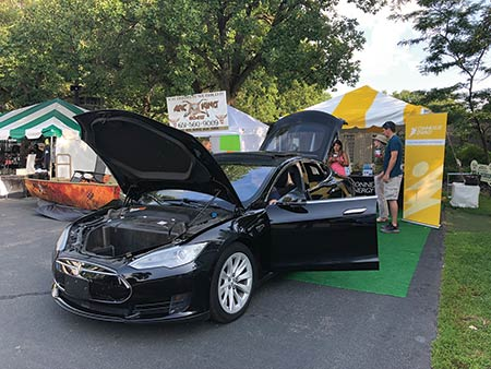 Electric Vehicle display at the Game Fair